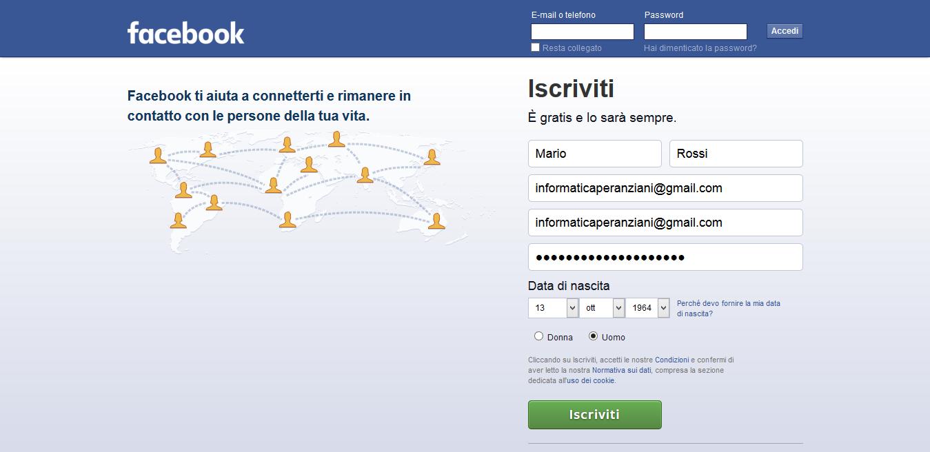 Come Iscriversi Su Facebook Informatica Per Anziani