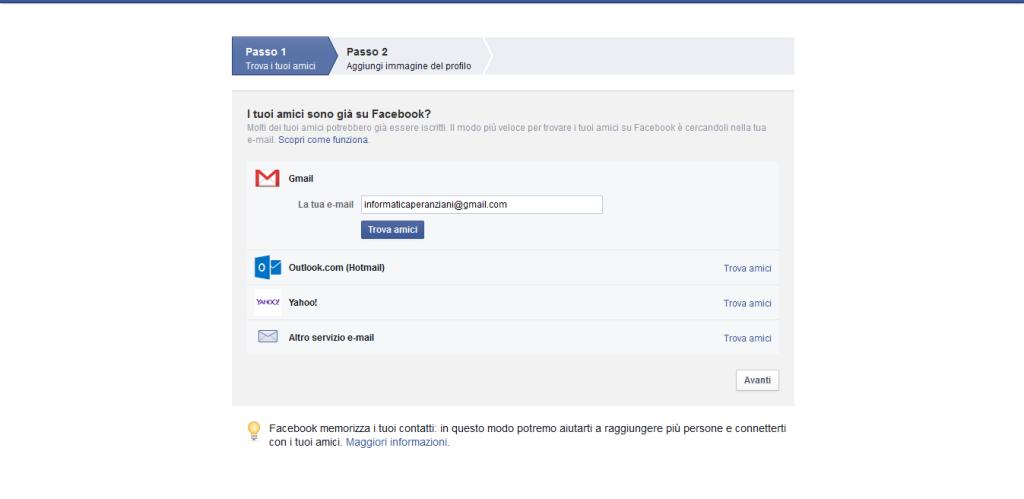 Facebook trova i tuoi amici