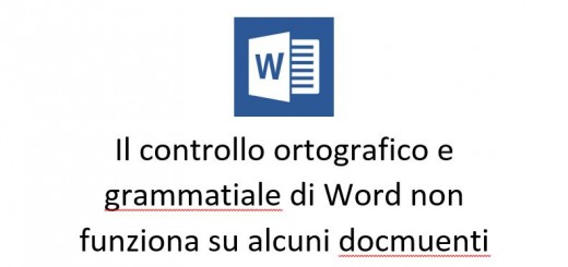 il correttore ortografico e grammaticale di Word non funziona su alcuni documenti
