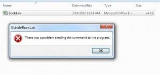 Errore invio comandi Excel