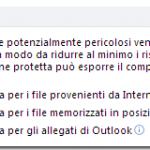 Outlook non apre gli allegati Word ed Excel (ma Pdf sì!)