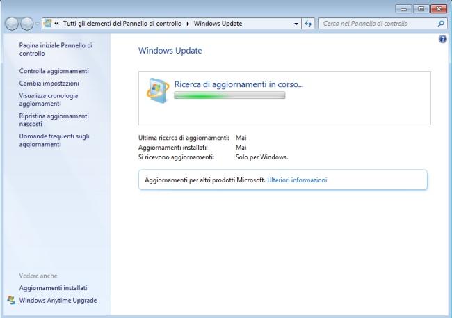 Risolvere problemi windows update windows 7 key verification update