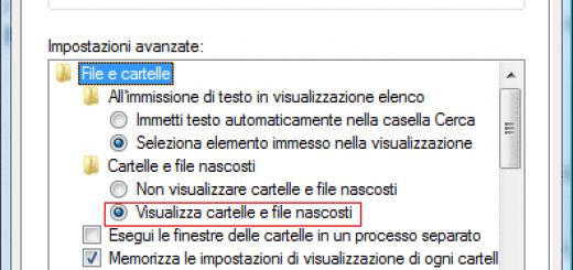 file nascosti