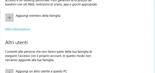 impossibile aggiungere nuovo utente su Windows
