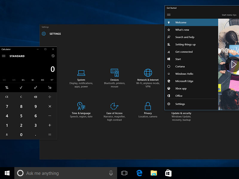 windows 10 tema dark