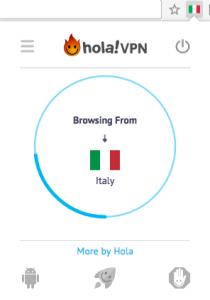 Hola VPN from Italy