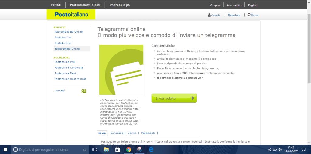Telegramma online 3