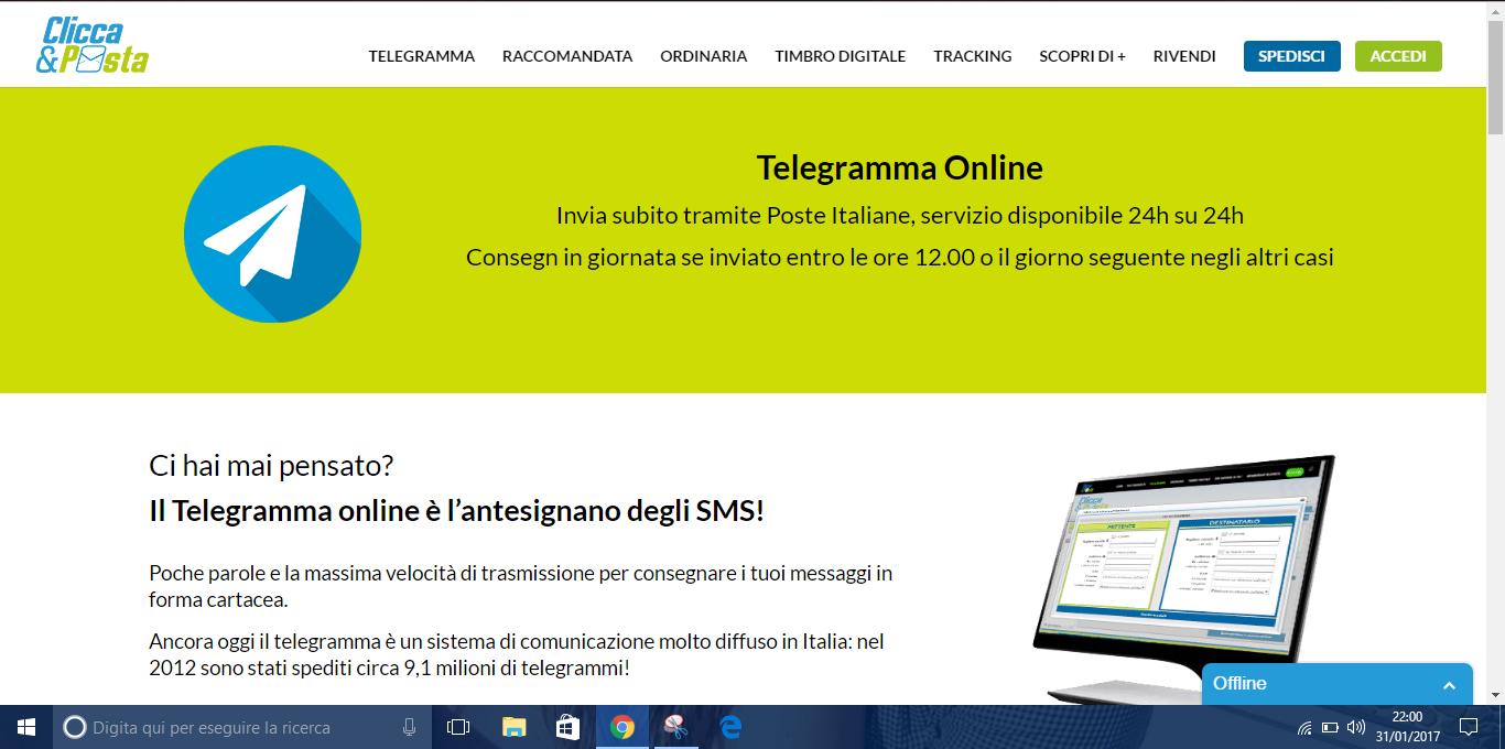Come Spedire Telegrammi Online Dallestero Informatica Per Anziani