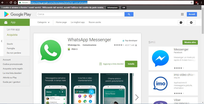 come scaricare whatsapp senza un account google