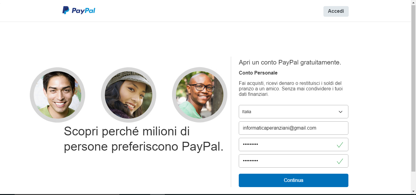 paypal info account