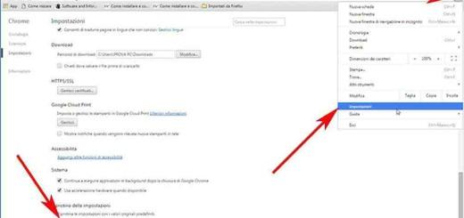 Ripristinare Google Chrome