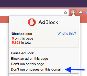 dont run adblock