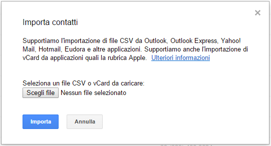 gmail importa