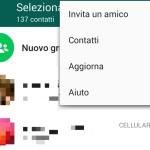 WhatsApp non mi sincronizza i contatti: La sincronizzazione sta riscontrando  qualche problema. Presto sarà di nuovo attiva