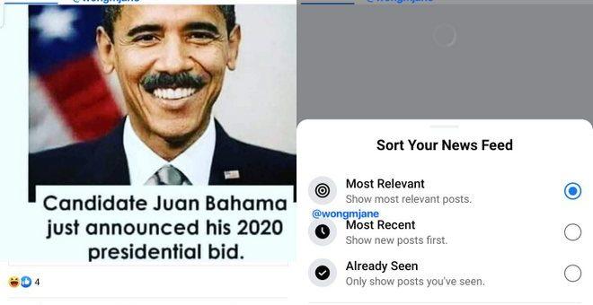 facebook interfaccia grafica