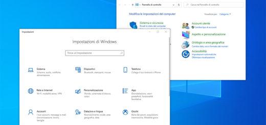 windows 10 impostazioni pannello di controllo