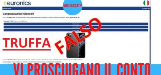 euronics sms phishing truffa