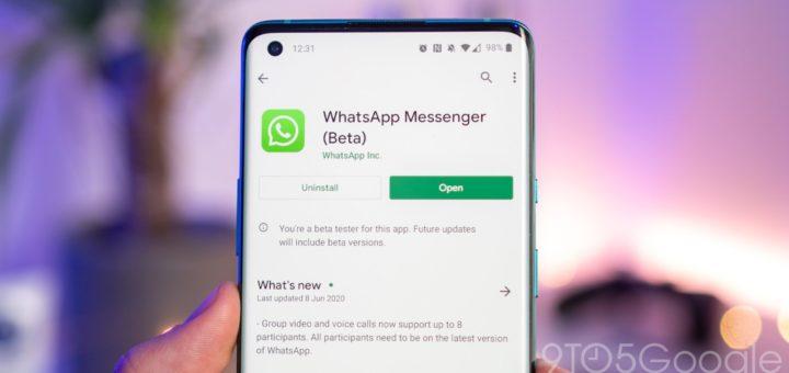 whatsapp aggiornamento beta novità