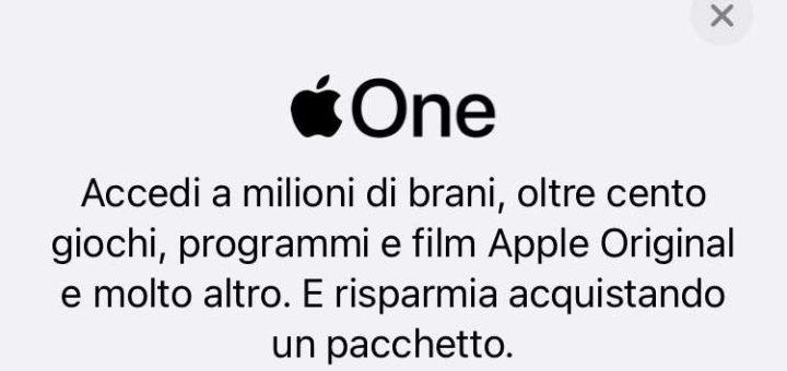apple one iphone ipad abbonamento