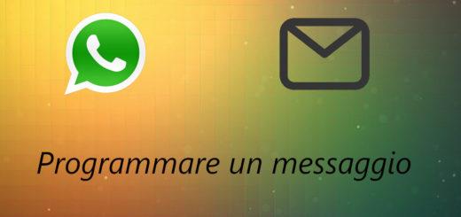 programmare l'invio di un messaggio